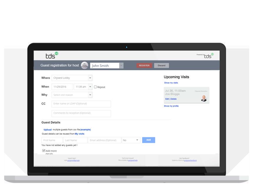 Quick-Register-Screen