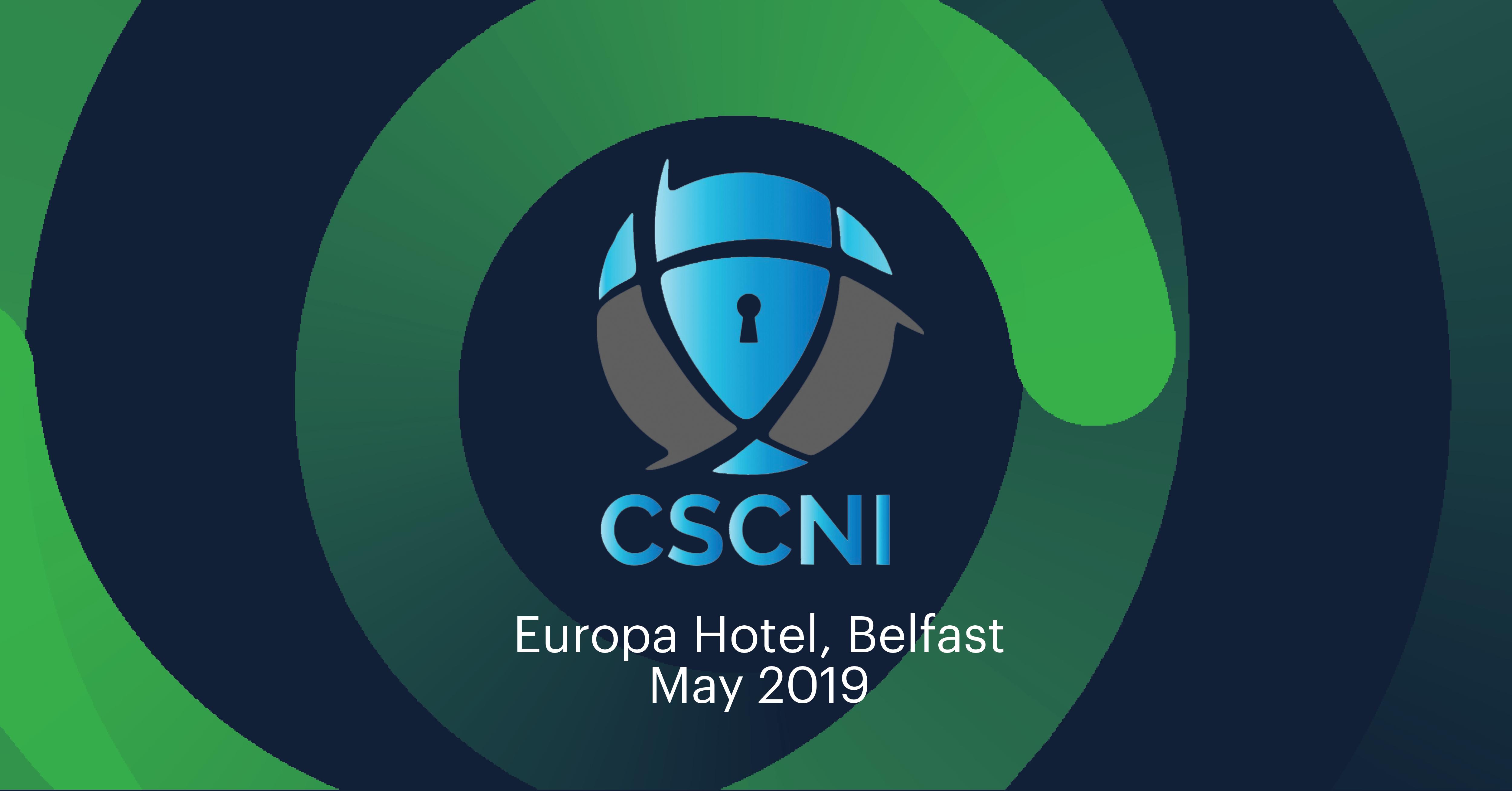 CSCNI - Belfast 2019