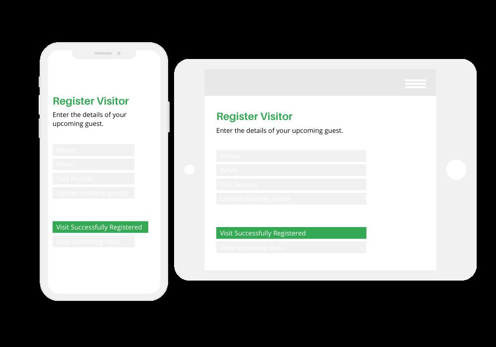 Quick Register Screens